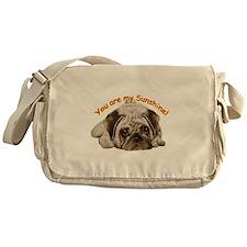 pug love Messenger Bag