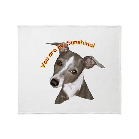 Italian Greyhound art Throw Blanket