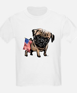 4th of July Pug Kids T-Shirt