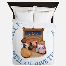 Polly Put The Kettle On Queen Duvet