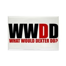 What Would Dexter Do Rectangle Magnet