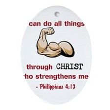 Philippians 4:13 Ornament (Oval)