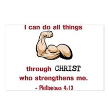Philippians 4:13 Postcards (Package of 8)