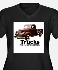Cool Street rod Women's Plus Size V-Neck Dark T-Shirt