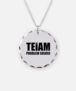 TEiAM Problem Solved Necklace Circle Charm