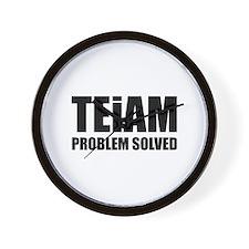 TEiAM Problem Solved Wall Clock