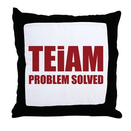 TEiAM Problem Solved Throw Pillow