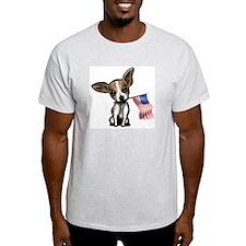 4th of July Chihuahua Ash Grey T-Shirt