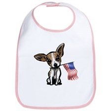 4th of July Chihuahua Bib