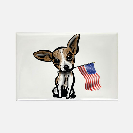 4th of July Chihuahua Rectangle Magnet