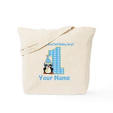 1st Birthday Penguin Tote Bag