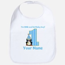 1st Birthday Penguin Bib