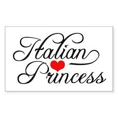 Italian Princess Rectangle Sticker