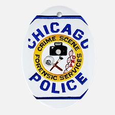 Chicago PD CSI Oval Ornament