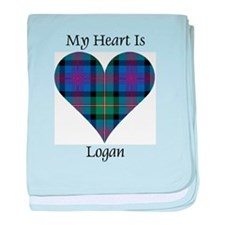 Heart - Logan baby blanket