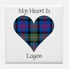 Heart - Logan Tile Coaster