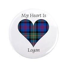 "Heart - Logan 3.5"" Button"
