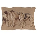 Borzoi pillow case Pillow Cases