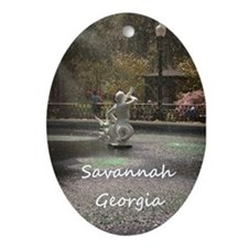 Savannah GA greening Ornament (Oval)