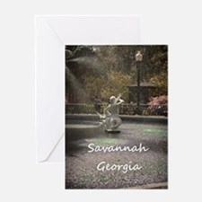 Savannah GA greening Greeting Card