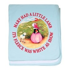 Mary Had A Little Lamb baby blanket