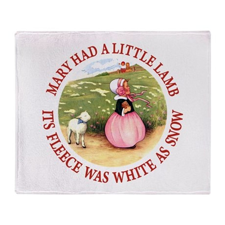 Mary Had A Little Lamb Throw Blanket