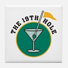 19th Hole Tile Coaster