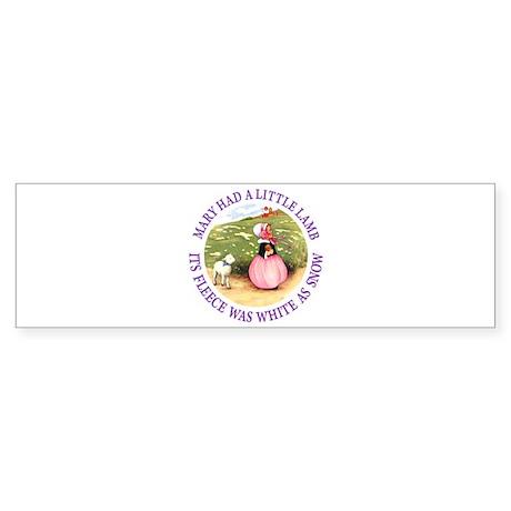 Mary Had A Little Lamb Sticker (Bumper)