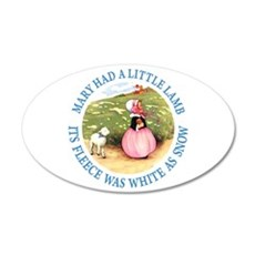 Mary Had A Little Lamb Wall Decal