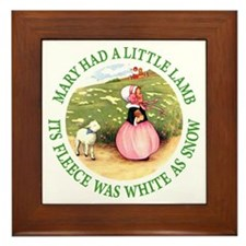 Mary Had A Little Lamb Framed Tile