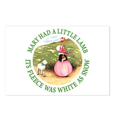 Mary Had A Little Lamb Postcards (Package of 8)