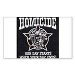 Chicago PD Homicide Rectangle Sticker