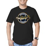 Men's Fitted Walleye Fishing T-Shirt (dark)