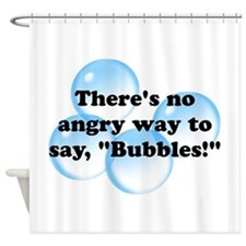 Angry Bubbles Shower Curtain
