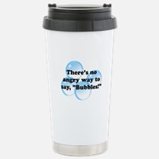 Angry Bubbles Stainless Steel Travel Mug