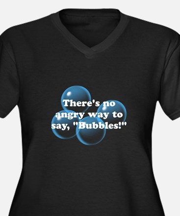 Angry Bubbles Women's Plus Size V-Neck Dark T-Shir
