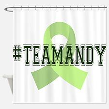 TeamAndy Collegiate Heavy Fon Shower Curtain