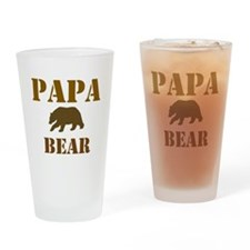 Papa Mama Baby Bear Drinking Glass