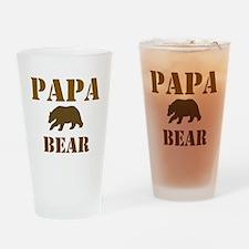 Papa Mama Baby Bear Drinking Glass