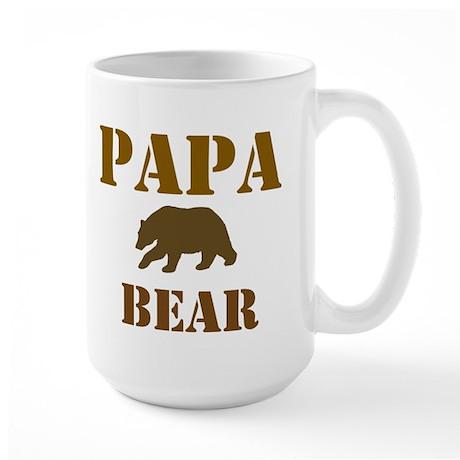 Papa Mama Baby Bear Large Mug