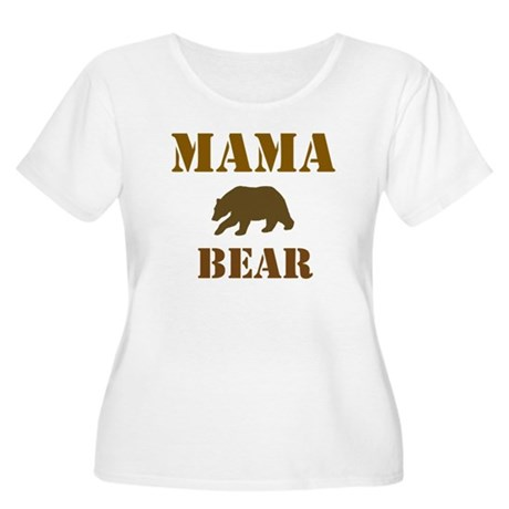 Papa Mama Baby Bear Women's Plus Size Scoop Neck T
