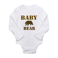 Papa Mama Baby Bear Long Sleeve Infant Bodysuit