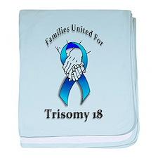 Trisomy 18 United baby blanket