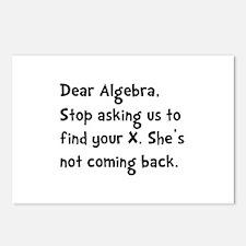Dear Algebra Postcards (Package of 8)