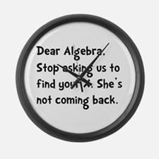 Dear Algebra Large Wall Clock