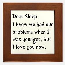 Dear Sleep Framed Tile