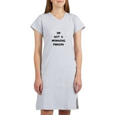 Cute Morning person Women's Nightshirt