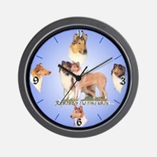 Rough and Smooth Collie Gifts Wall Clock