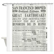 Oakland Tribune 1906 SF Earthquake Shower Curtain