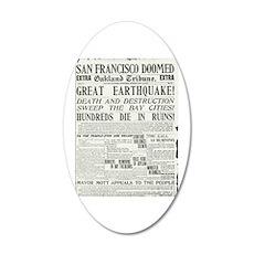 Oakland Tribune 1906 SF Earthquake 22x14 Oval Wall
